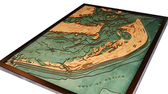 Wooden Map of Sanibel