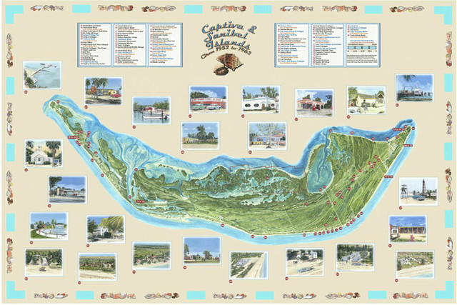 Sanibel Captiva Map 1952-62 - SOLD